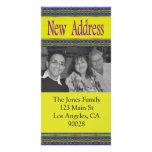 yellow blue new address photo cards
