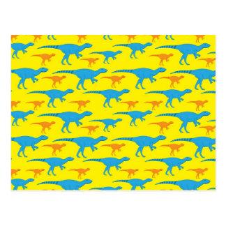 Yellow Blue Orange Dinosaur Designs Pattern Gifts Postcard