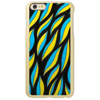 yellow blue pattern
