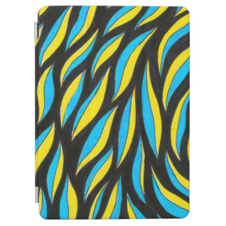 yellow blue pattern iPad air cover