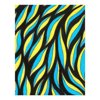 yellow blue pattern letterhead