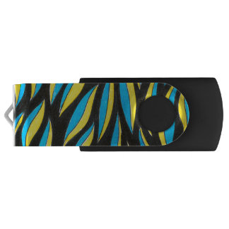 yellow blue pattern USB flash drive