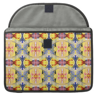 Yellow Blue Red Kaleidoscope design Sleeves For MacBook Pro