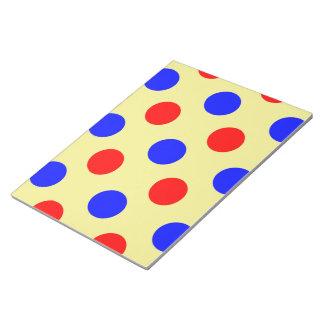 Yellow Blue & Red Polka dot Vector illustration Notepad