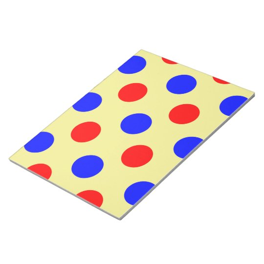 Yellow Blue & Red Polka dot Vector illustration Notepad