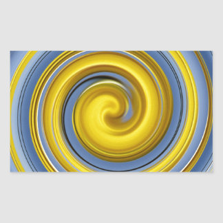 Yellow-blue spiral sample