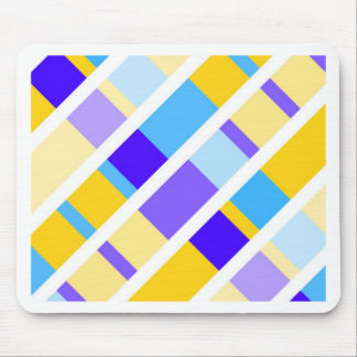 Yellow-Blue Summer Pattern Mouse Pad