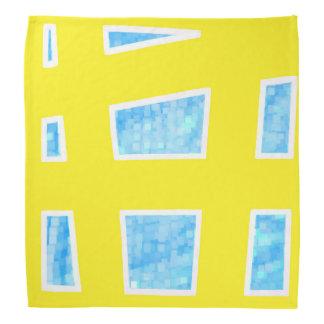 Yellow/Blue Unique Geometric Pattern Bandana