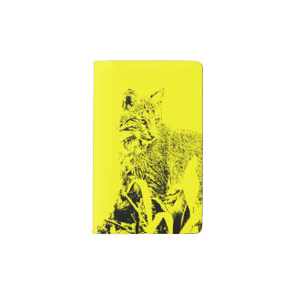 Yellow Bobcat Portrait Notebook Cover