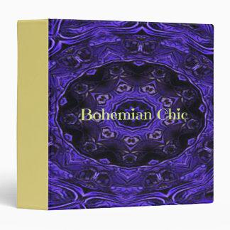 Yellow Bohemian Chic Purple Black Pattern Vinyl Binder