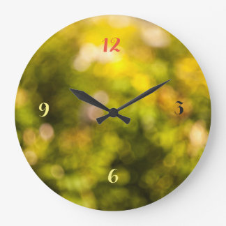 Yellow bokeh large clock