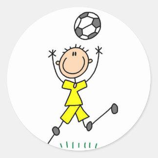 Yellow Boys Soccer Sticker