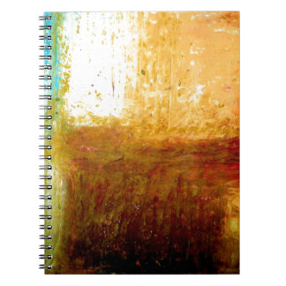 Yellow Brown Abstract Notebook