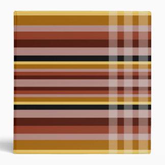 Yellow-Brown Checks & Stripes Binder