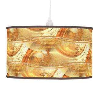 Yellow Brown Orange Natural Earth Tones Abstract Pendant Lamp