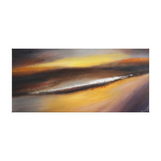 Yellow Brown Sunset Canvas Print