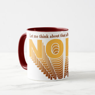 Yellow/Brown Super Nope Mug