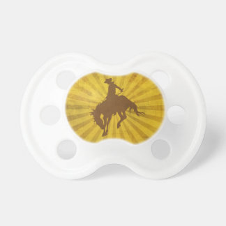Yellow Brown Vintage Cowboy Pacifier
