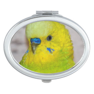 Yellow Budgie Compact Mirror