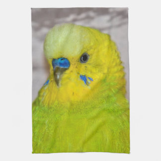 Yellow Budgie Kitchen Towel