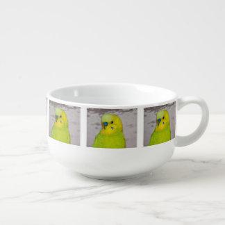 Yellow Budgie Soup Mug