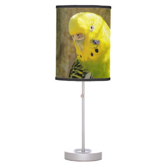 Yellow budgie table lamp
