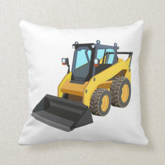 Yellow Bull Dozer Pillow