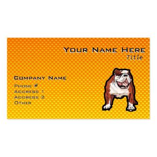 Yellow Bulldog Business Card Templates