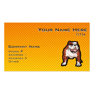 Yellow Bulldog Pack Of Standard Business Cards