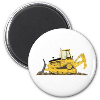 Yellow Bulldozer 2 Inch Round Magnet