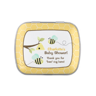 Yellow Bumble Bee Custom Jelly Bean Tin Jelly Belly Tins