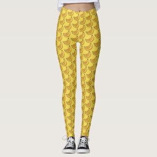 Yellow Bunch of Bananas Fruit Foodie Print Leggings
