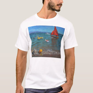 Yellow Buoy and Red Sails Abersoch T-Shirt
