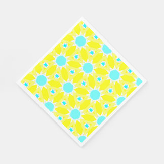 Yellow Bursts Disposable Napkins