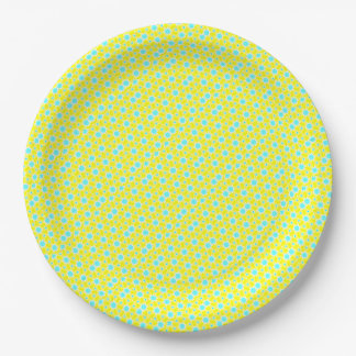 Yellow Bursts Party Paper Plate