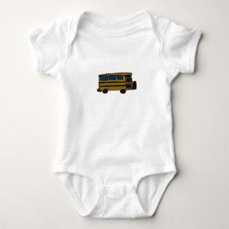 yellow bus baby bodysuit