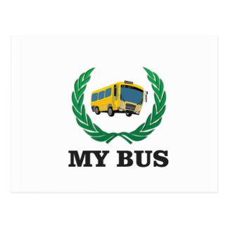yellow bus my postcard