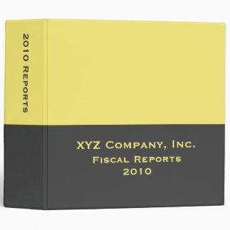 yellow business binders
