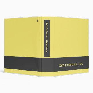 yellow business vinyl binder