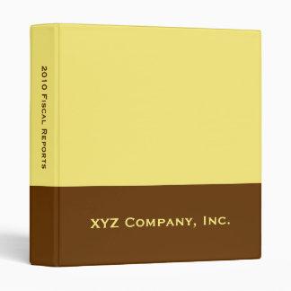 yellow business vinyl binders