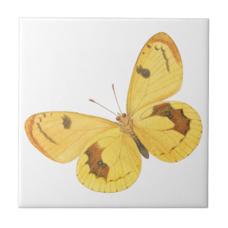 Yellow Butterflies - Ceramic Tile