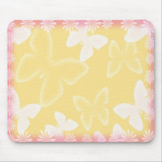 Yellow Butterflies Mousepad