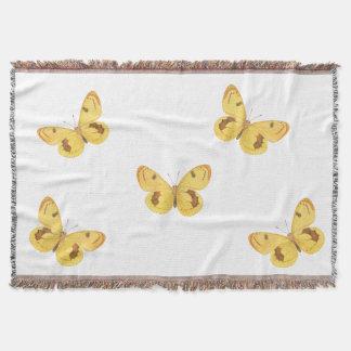 Yellow Butterflies - Throw Blanket