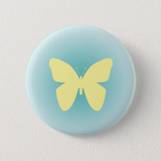 Yellow Butterfly 2 Inch Round Button