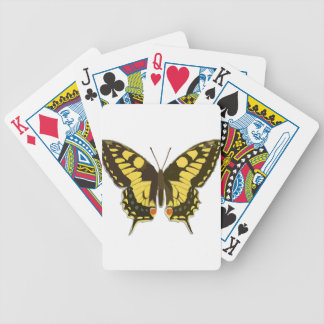 Yellow Butterfly Bicycle Playing Cards