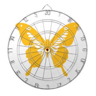Yellow Butterfly Dart Board