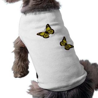 Yellow Butterfly Dog Shirt