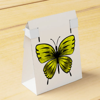 yellow butterfly favor box