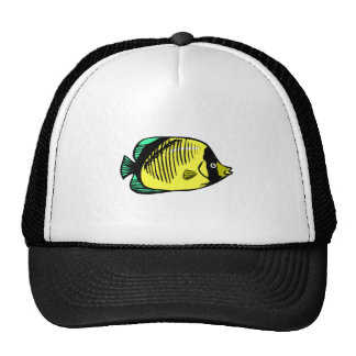 Yellow Butterfly Fish Trucker Hat