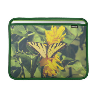 Yellow Butterfly & Flowers MacBook Air Sleeve